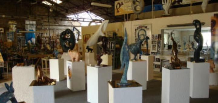 L'atelier du sculpteur sur bronze Michel Couqueberg, à visiter