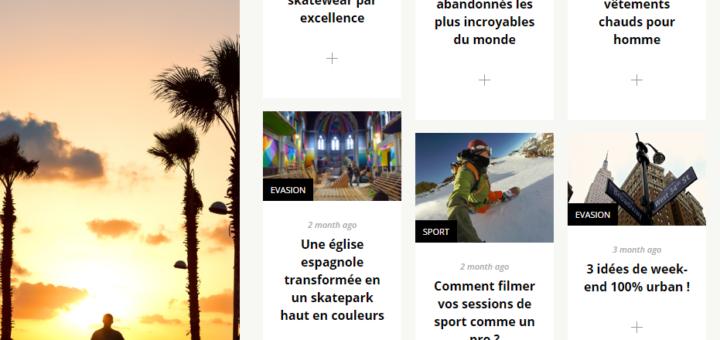 Capture d'écran de la page d'accueil du magazine Street and Style.fr